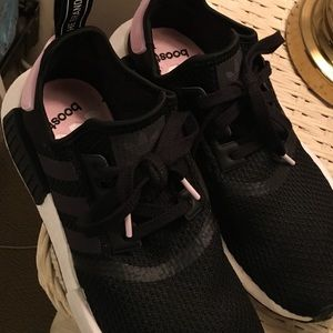 Adidas nmd Black, white and baby pink size 8